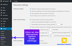 Step-2 Click Discussion under Settings